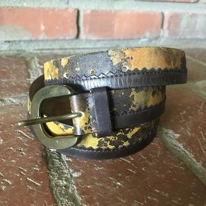 Streets Ahead Leather Belt Sz M